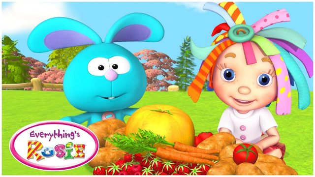 Fruits and Vegetables | Cartoon for kids | Gardening for kids | Compilation | Everythings Rosie