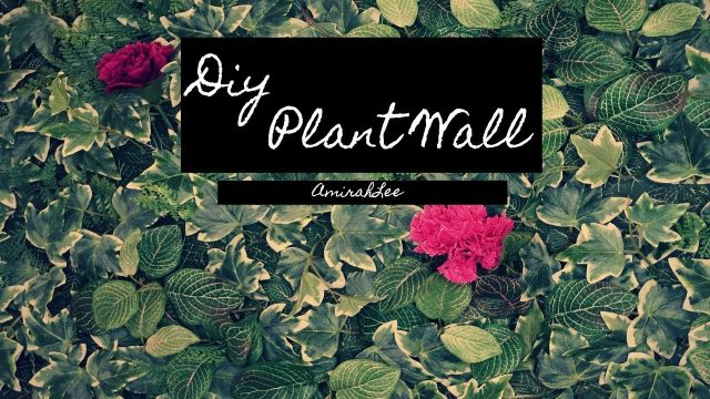 DIY ARTIFICIAL PLANT WALL **NO DAMAGE TO YOUR WALLS**