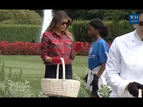 Melania Trump Gardens With Kids -Full Event
