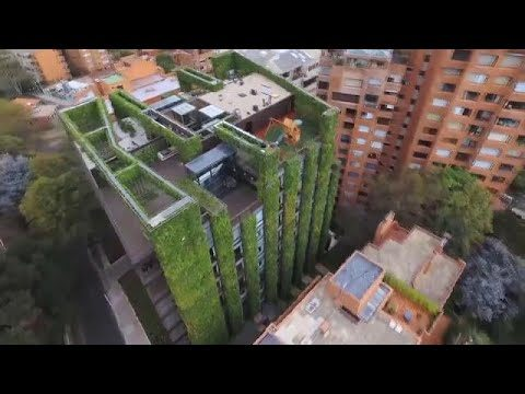Colombia: Bogota 'vertical gardens' hint at greener future