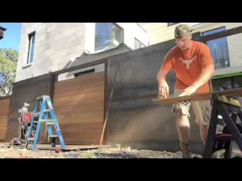 Aplocalypse proof fence – steel tubing and ipe wood built around steel planter boxes