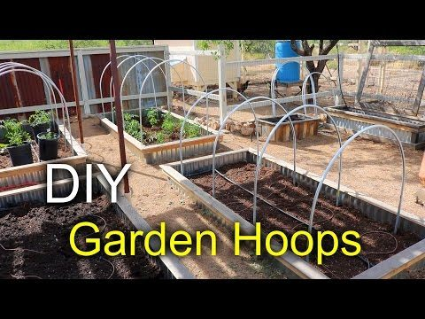 Garden Hoops with a Pallet – How to make