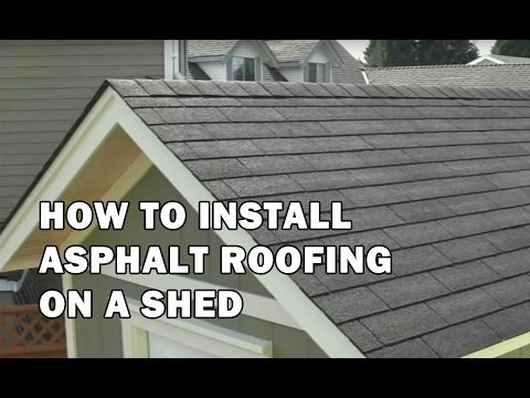 How to Build a Shed – How To Install Asphalt Roofing Shingles on a Shed – Video 13 of 15