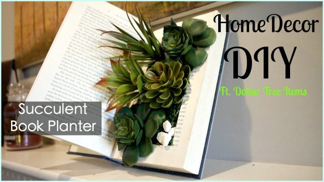 Dollar Tree Home Decor DIY ~ Succulent Book Planter ~ Pinterest Inspired DIY