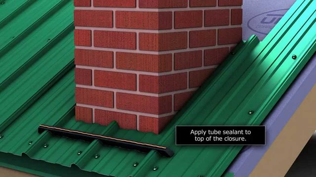 How to install chimney flashing when using Union's MasterRib metal roofing panel.