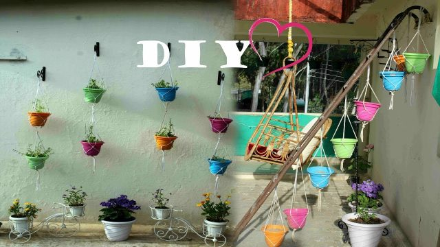 How to create  Pot Hanging section /Balcony Makeover in a budget