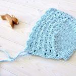 How to crochet a pretty lace baby / children's bonnet