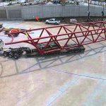 Ford plant Chicago pedestrian bridge 210l x 17.3 w x 17.1 h 150 k STS heavy haul