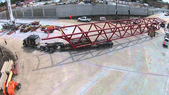 Ford plant Chicago pedestrian bridge 210l x 17.3 w x 17.1 h 150 k STS heavy haul