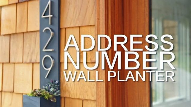 Address Number Wall Planter – HGTV Happy