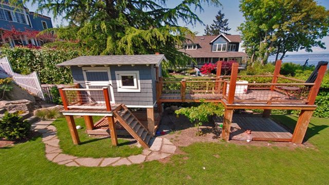 Children's outdoor playhouses Design ideas | DIY Kids Playhouses Garden