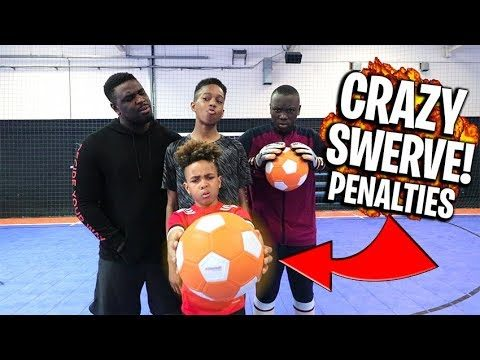 CRAZY SWERVE!  Overpowered Football Challenge!