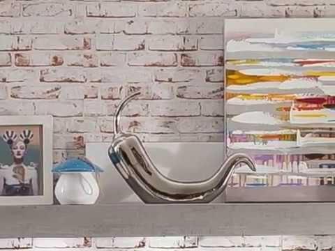 Wohnwand Sideboard und Highboard weiß Hochglanz Beton Design Pure