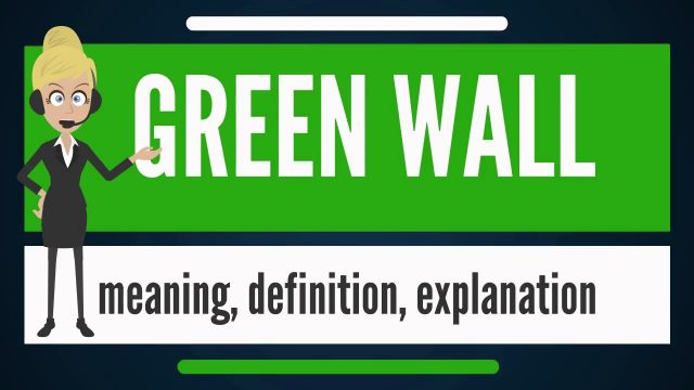 What is GREEN WALL? What does GREEN WALL mean? GREEN WALL meaning, definition & explanation
