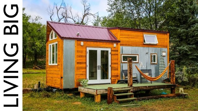 Young Woman's Off-Grid Green Built Tiny House Designed For a Sustainable Future