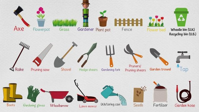 Kids Vocabulary – Gardening Tools for Kids | Garden Vocabulary – Kids Gardening Tools
