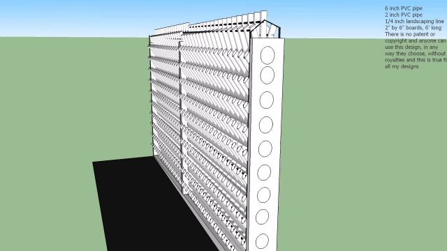 800 plants in 12′ x 6′ x 1′ hydroponic rack Google Sketchup use the 'Page Down' key