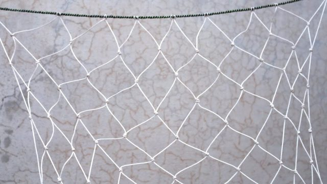 How to make a vegetable net for growing vegetables vertically