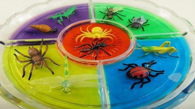 Best Learning Colors Videos For Children Garden Insects Bugs Kids Toys Dye Coloring Teaching Babies