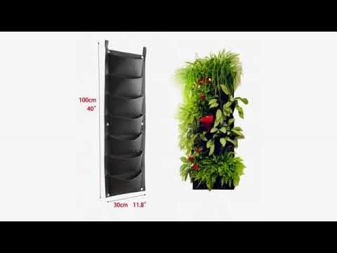 Must See Gardening Review! KORAM 7 Pockets Vertical Garden Wall Planter Living Hanging Flower Pou..
