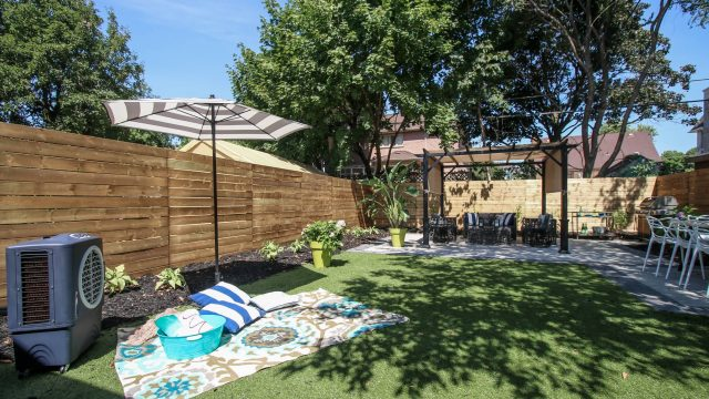 This kid-friendly backyard renovation took only 3 weeks to complete