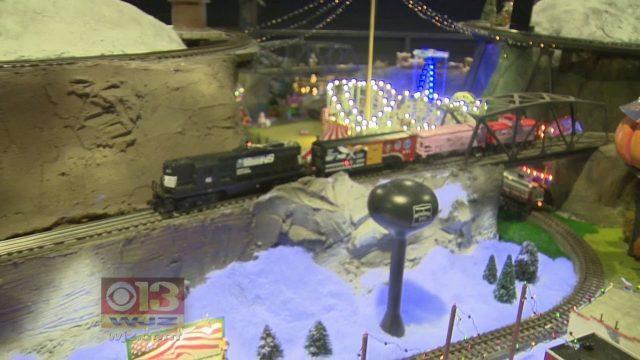The Baltimore City Fire Dept's Engine 45 Holiday Train Garden Is Back For The Holiday Season