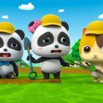 Baby Panda  Plant Trees in the Garden   Love Drinking Water   Kids Good Habits   BabyBus