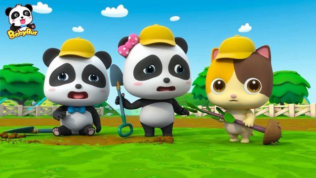 Baby Panda  Plant Trees in the Garden | Love Drinking Water | Kids Good Habits | BabyBus