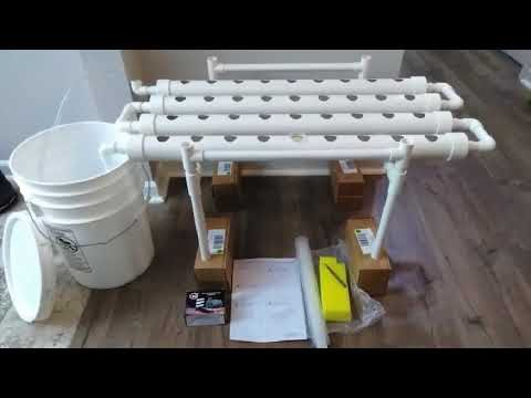 Review DreamJoy Hydroponic Grow Kit 72 Site 8 Pipe NFT PVC Hydroponic Pipe