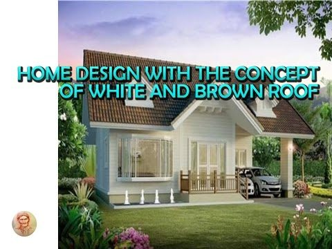 home design with the concept of white and brown roof