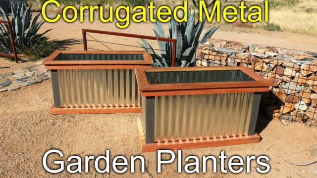Redwood and Metal Planters – How To