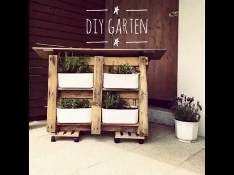 DIY Idee: Vertikaler Garten aus Paletten – Upcycling