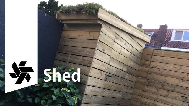 Green Roof Tool Shed