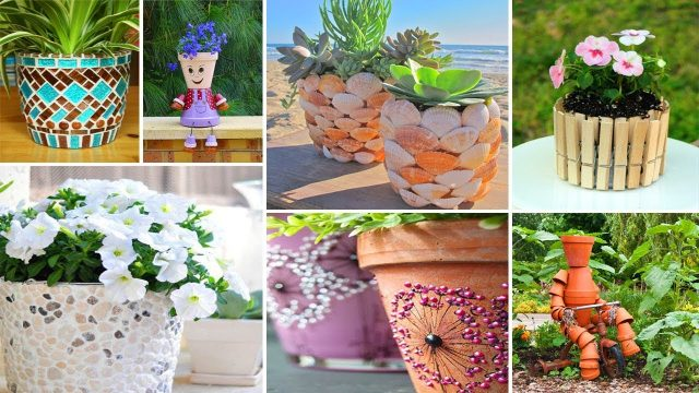 100 DIY ideas for Pots crafts | DIY Garden