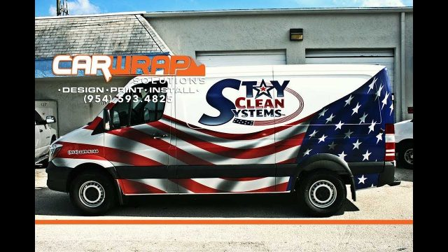 New Mercedes Sprinter Van Car Wrap Advertising Weston Florida. Get Local Customers Using Car Wraps