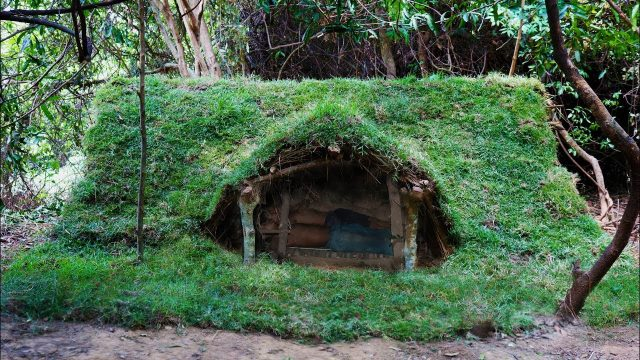 Update underground house with grass roof