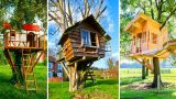 80 Amazing Fun Kids Tree Houses, Super Cool Garden Ideas