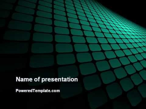 Green Grid Theme PowerPoint Template by PoweredTemplate.com