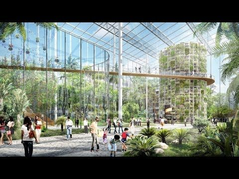 China's Futuristic Vertical Farming District in Downtown Shanghai