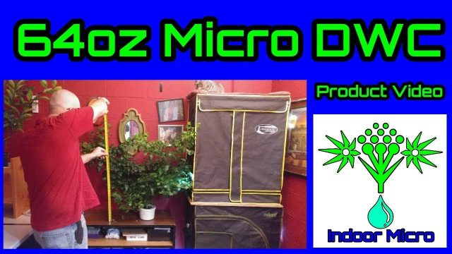Indoor Micro 64oz Grow Box Tent Micro DWC Hydroponic System