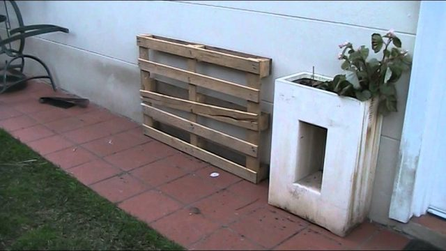 Making vertical gardens from pallets