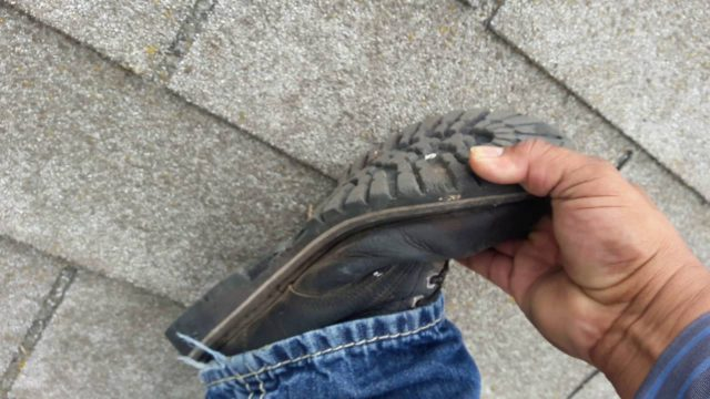 The Best Roofing shoes to walk on steep roofs , gotta know this secret …watch this!