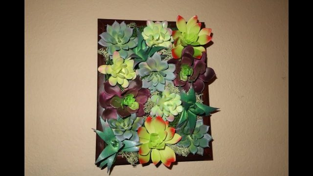 Dollar Tree DIY – Pottery Barn Inspired Succulent Wall Decor