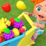 Little Baby Girl Fun Learning Colors & Fruits Names for Children Garden Fruits 3D Kids Educational