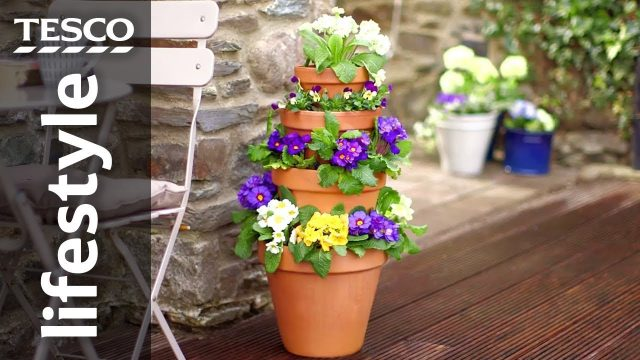 How to make a vertical garden by stacking pots | Tesco