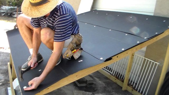 Roofing – Installing Tarpaper Felt – The Basics – Dry in of Mockup