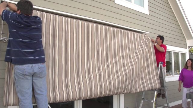 Replacing a Retractable Awning's Fabric – Removal & Installation