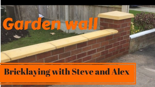 Bricklaying with Steve and Alex brickwork   NEW GARDEN WALL PART 1