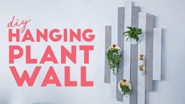 DIY THIS MODERN RUSTIC PLANT WALL