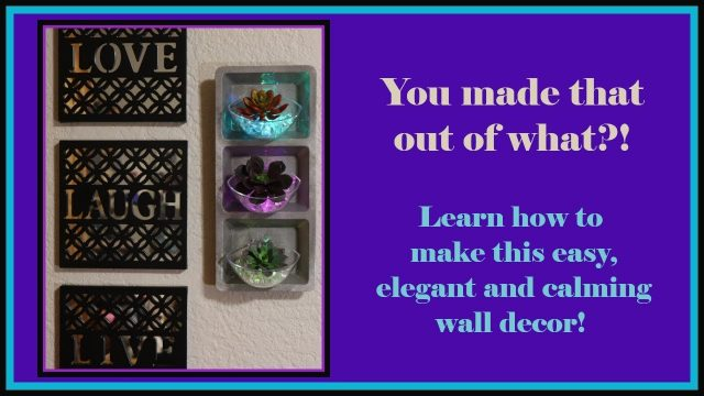 Modern Succulent Wall Decor